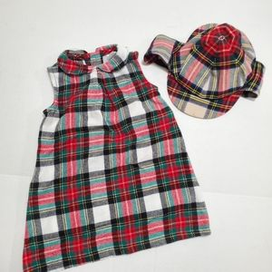 Carter's Christmas Dress Plaid Size 18 Month